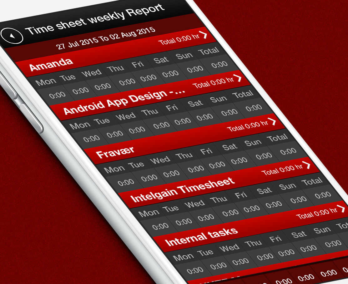 Timesheet & Resources Management App