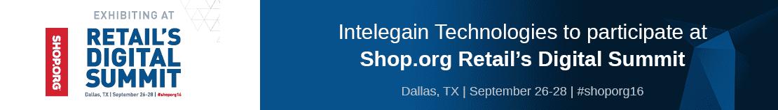 Intelegain Exhibiting at Shop.org