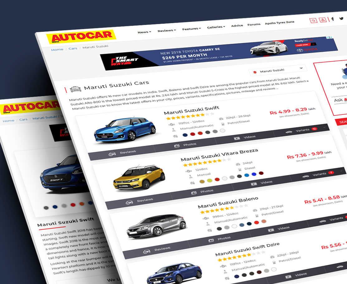 Automobile Comparison Platform