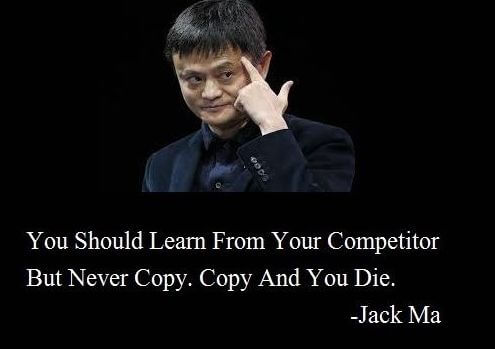 Jack Ma Quote on Originality